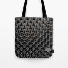 Black Gray Art Deco Pattern Tote Bag