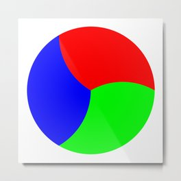 Red Green Blue Thirds of of Circle Metal Print