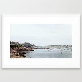 Massachusetts Fishing Village Framed Art Print