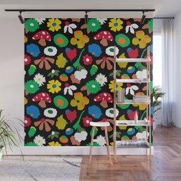 Mod Mushroom Floral Wall Mural