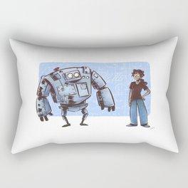 A Girl and her Robot Rectangular Pillow