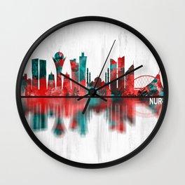 Nur-Sultan Kazakhstan Skyline Wall Clock
