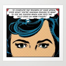Retro Romance Pop Art  Art Print
