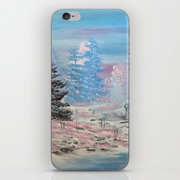 Winter calm-along the creek iPhone Skin