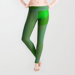 Green splash. Leggings