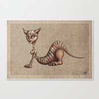 sphynx Canvas Prints featuring Sphynx by M. Adeline Nef