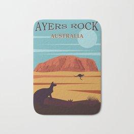 Ayers Rock Australia, Uluru Travel Poster Bath Mat