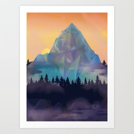 Crystal Mountain 2  Art Print