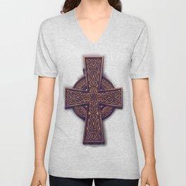 Celtic Cross Unisex V-Neck