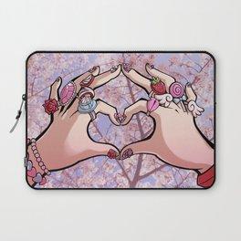 Heart Hands - Sakura Trees Laptop Sleeve