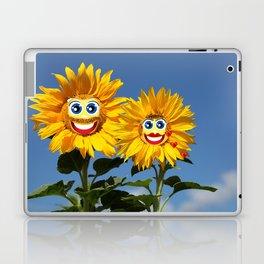 Sonnenblumenfrau und Sonnenblumenmann Laptop & iPad Skin