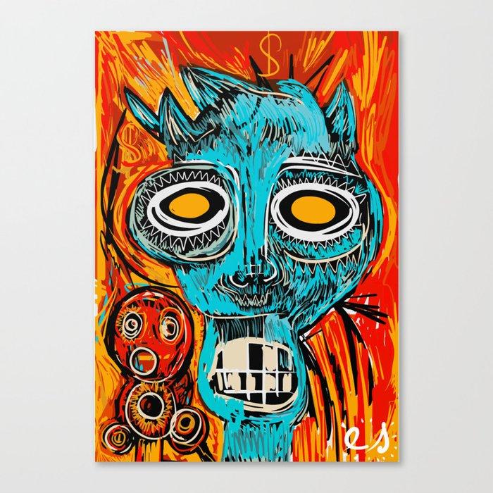 Blue Devil Canvas Print