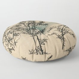 Bamboo Branches Traditional Japanese Flora Floor Pillow