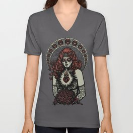 Sugar Skull Bride Unisex V-Neck