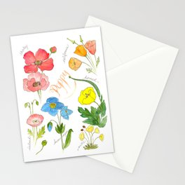 Types of Poppies Stationery Cards