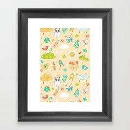 Kid Baby Pattern Framed Art Print