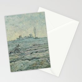 Snow-Covered Field with a Harrow (after Millet) Stationery Cards