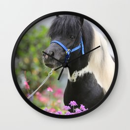 Floral Pinto Wall Clock