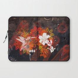 Hummingbird and flower graffiti Laptop Sleeve