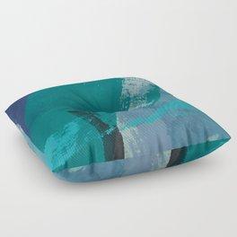 sea ocean abstract art 2021 2 Floor Pillow