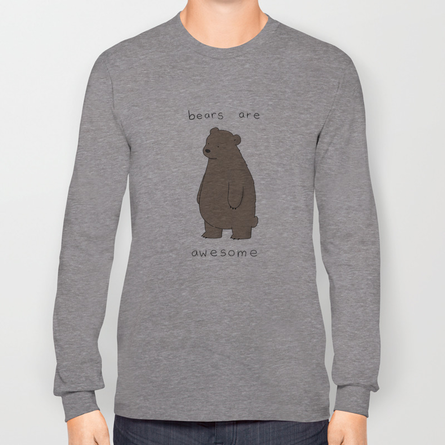 410e46b99eb1 Bears are Awesome Long Sleeve T-shirt by lizclimo | Society6