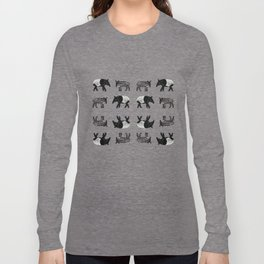 Dance of the Tapirs in red Long Sleeve T-shirt