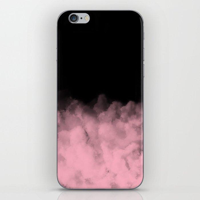 Black with Pink Minimal iPhone Skin