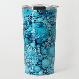 Ocean Atlantic Blue Bubble Abstract Travel Mug