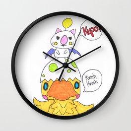 Moogle and Chocochick Wall Clock