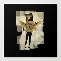 kafka Canvas Prints featuring Mrs. Kafka by Studio Judith
