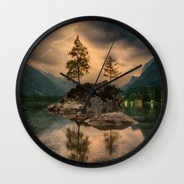 Tunderstorm lake Wall Clock
