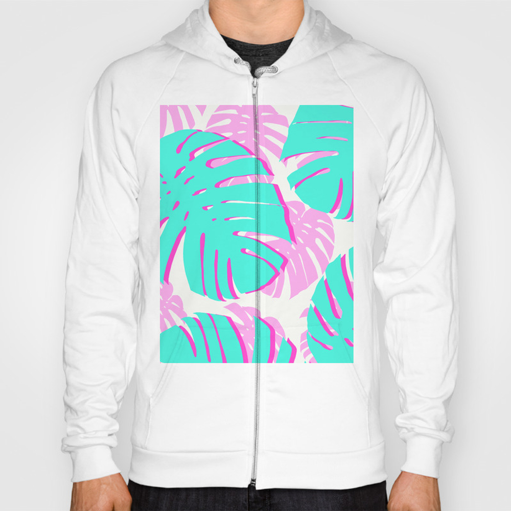Vibrant Tropical Leaves Hoody by Beautifularts SSR8956716