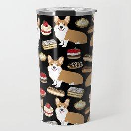 Corgi Patisserie Bakery French Parisian food, tarts, eclair, napoleon, cute food design Travel Mug
