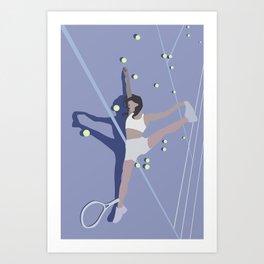 When Tennis is Just 2 Much Art Print