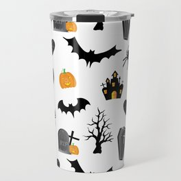 Halloween Pattern Travel Mug