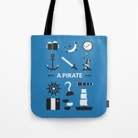 ouat Tote Bags featuring OUAT - A Pirate by Redel Bautista