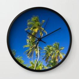 Coconut Palms on Tropical Island Wall Clock