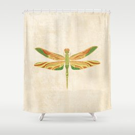 Antique Art Nouveau Dragonfly Shower Curtain