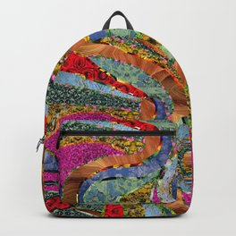 red dot mosaic Backpack