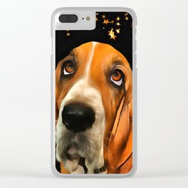 A Basset Hound. (Painting.) Clear iPhone Case