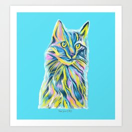 Cat of Many Colors Art Print