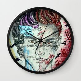 Bat's joke Wall Clock