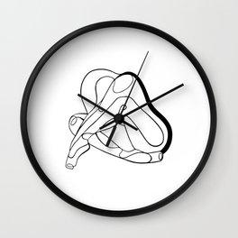 Ballerina linework illustration Wall Clock