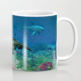 Sea turtles swim through the Mediterranean Sea Coffee Mug