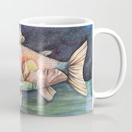 Rainbow Trout and Mountains Coffee Mug