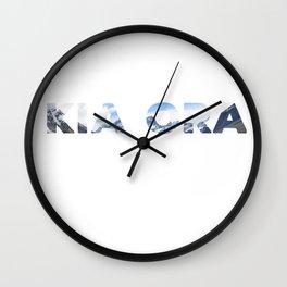 Kia Ora New Zealand Wall Clock