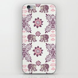 Boho Pink Elephants iPhone Skin