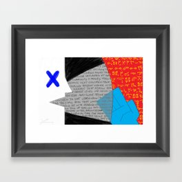 Stop Talking About Us Without Us! Framed Art Print
