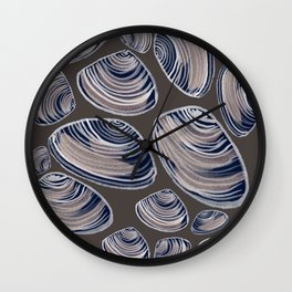 Night Oysters Wall Clock