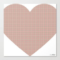 I love you this much... (light purple) Canvas Print